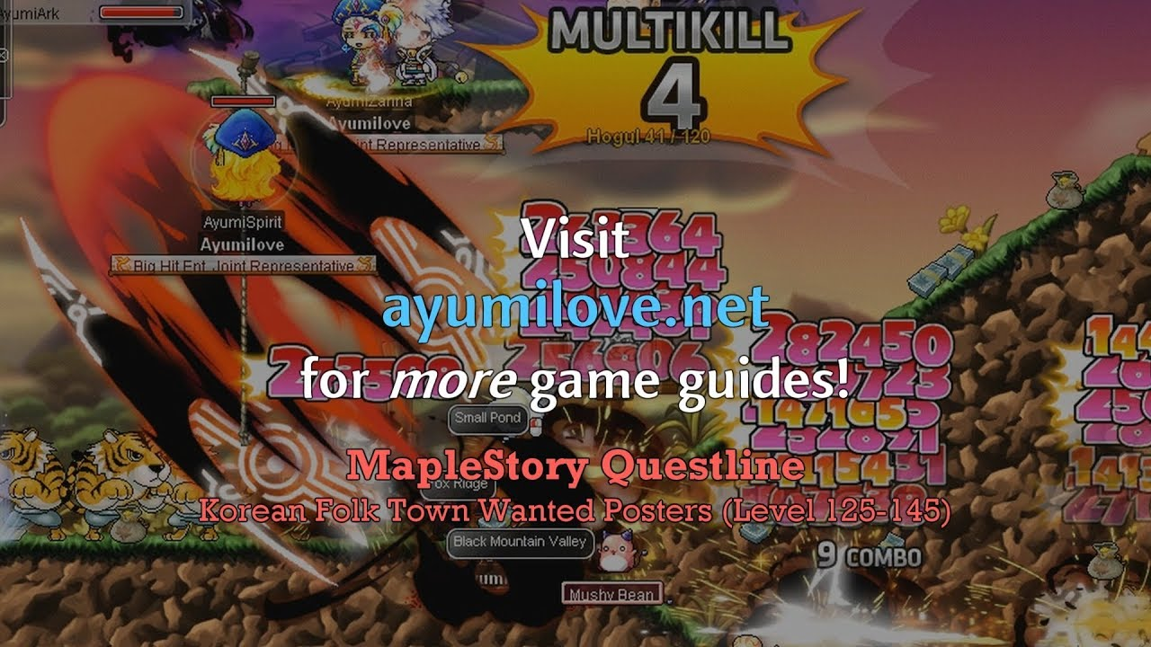 Best MapleStory Training Spots 1-250 Guide (GMS v 183