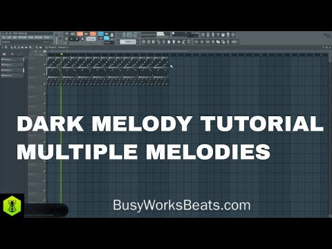 How to Make Dark Melodies using Multiple Melodies TRAP SERIES Pt. 1