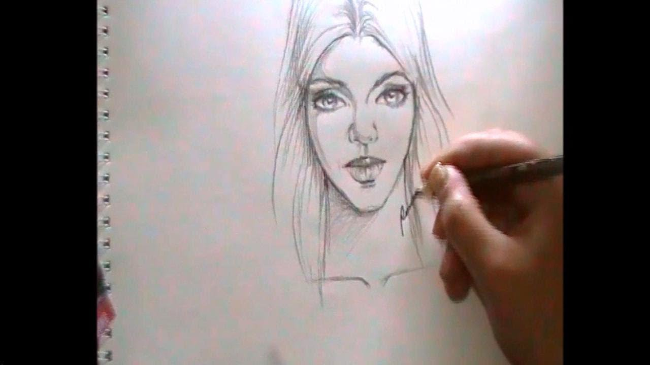 how to draw human face the most simple technique on youtube youtube