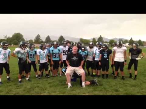 My West Jordan Football ALS ice bucket challenge!
