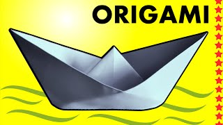 comment faire un bateau en papier qui flotte, pliage origami