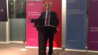 Nick Hurd MP, Minister for Civil Society at the Nesta Innovation in Giving Fund Celebration Workshop