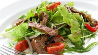 Салат с говядиной и сладким перцем