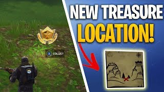 WHERE TO FIND SECRET SNOBBY SHORES MAP AND TREASURE LOCATION! - Fortnite Battle Royale