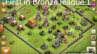 Clash of Clans first in bronze league 1