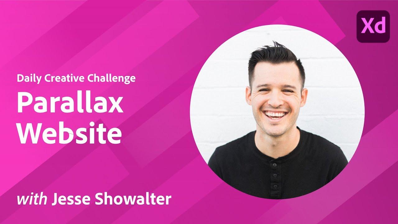 XD Daily Creative Challenge - Parallax Website