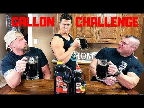 Chugging 1 GALLON of SYRUP with TheBellLife | Bodybuilder VS Drinking Syrup Challenge