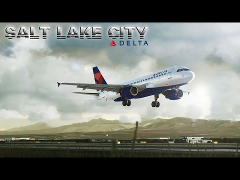 FSX [HD] - Delta Airlines | Airbus A320 | Approach to Salt Lake City