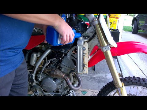 how to change radiator coolant on crf150r youtube. Black Bedroom Furniture Sets. Home Design Ideas