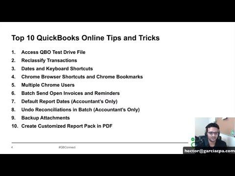 TOP 10 QuickBooks Online Tips & Tricks – October 2018