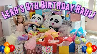 Leah's 9th Birthday Haul! ***Officially Leah***
