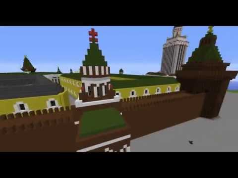 Real Scale Kremlin and Red square in minecraft.
