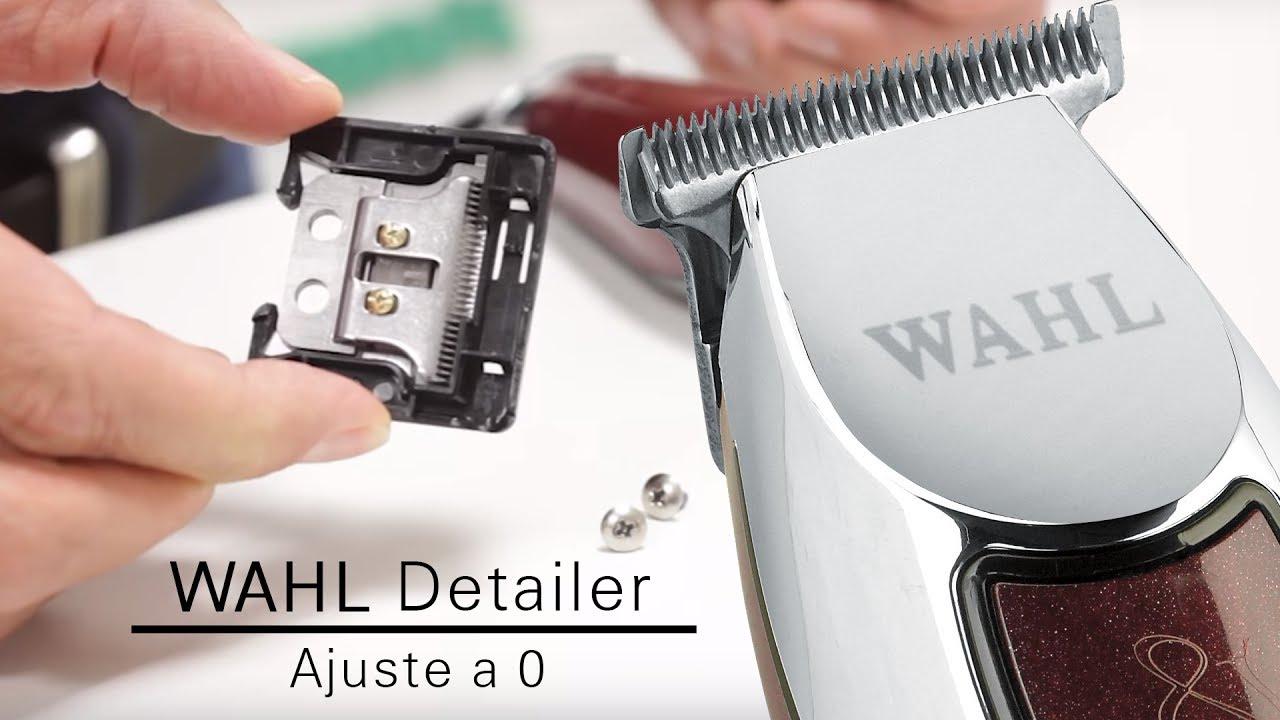 WAHL DETAILER (Ajuste de cuchillas a 0) - YouTube 264ec4a880c8