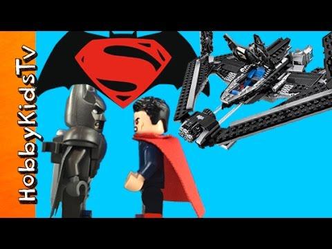 BATMAN vs SUPERMAN Sky High Battle Lego Build! Superhero Challenge HobbyKidsTV