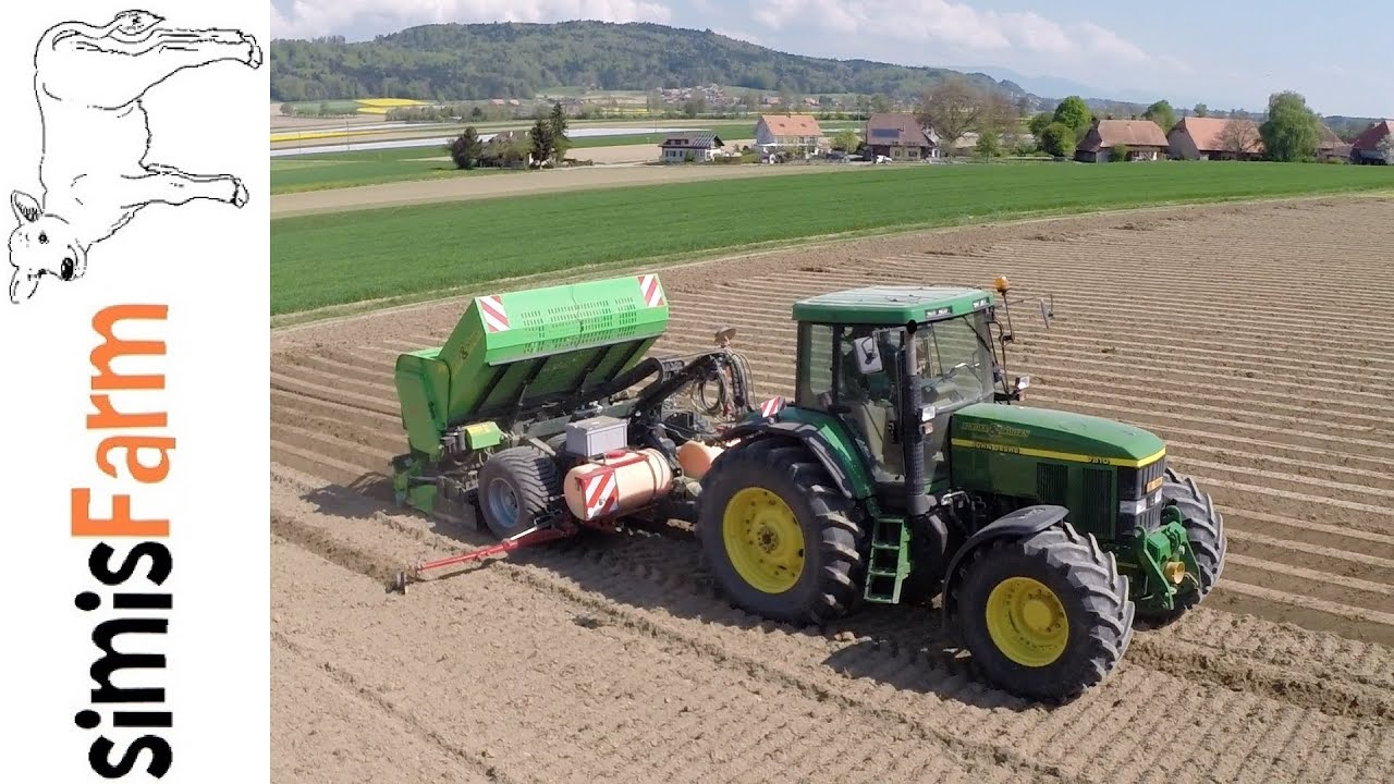 simisfarm all in one kartoffeln pflanzen mit john deere 7810 youtube. Black Bedroom Furniture Sets. Home Design Ideas