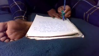 ASMR ROLEPLAY / WRITING YOU A TICKLE LETTER With SOFT WHISPERS/WRITING/and PAGE TURNING For Tingles
