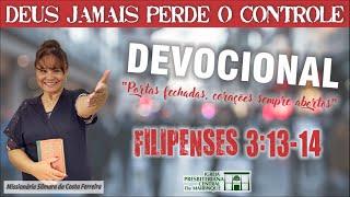 Devocional - Deus não perde o controle de nada