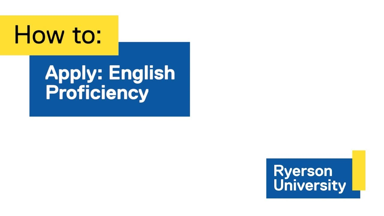 English Language Requirements - Admissions - Ryerson University