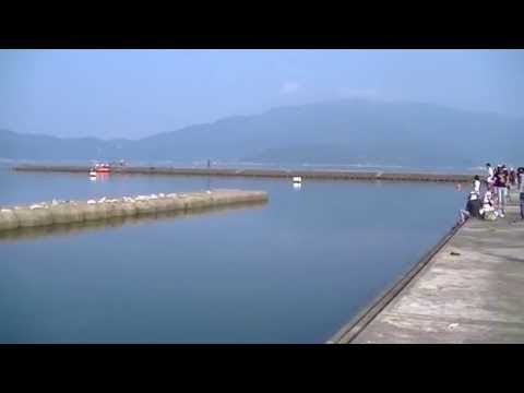 鞠山海水浴場 夏休み朝の風景
