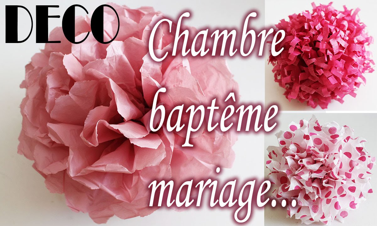 tuto d co clair fleur papier soie chambre bapt me mariage etc youtube. Black Bedroom Furniture Sets. Home Design Ideas