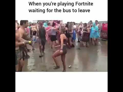 When you're playing fortnite waiting for the bus to leave😂🔥(group dance)