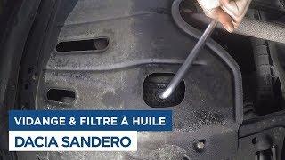 Vidange et changement du filtre à huile sur Dacia Sandero