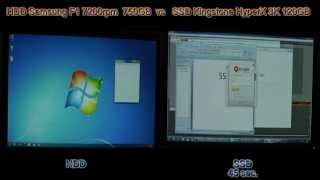 SSD vs HDD (Kingstone HyperX vs Samsung F1)