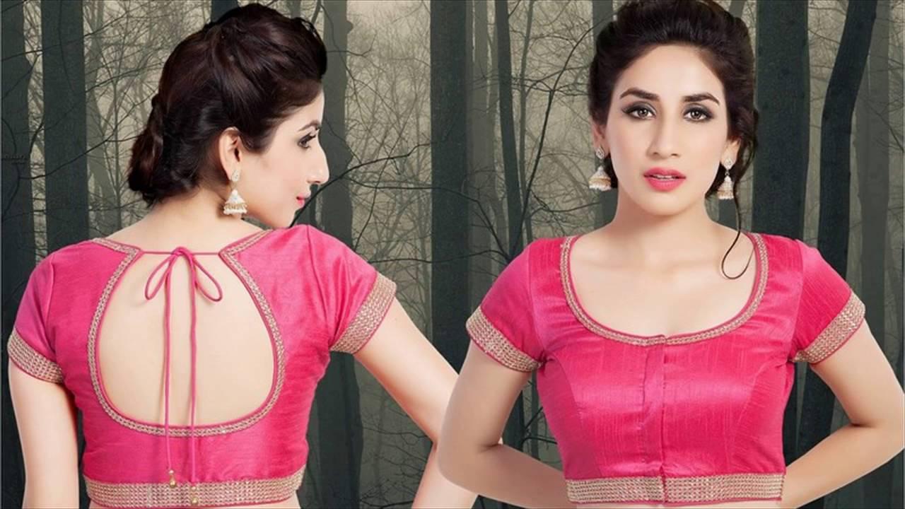 Latest saree blouse design neck - Latest Blouse Designs For Sarees