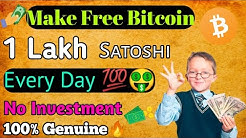 Earn 1 Lakh Satoshi Every Day🔥 By Using Your Phone 100% paying [Hindi]🤑