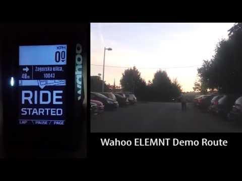 Wahoo Elemnt navigation demo