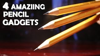 4 Amazing Gadgets With Pencils! - Super Simple, Lots of Fun!!!