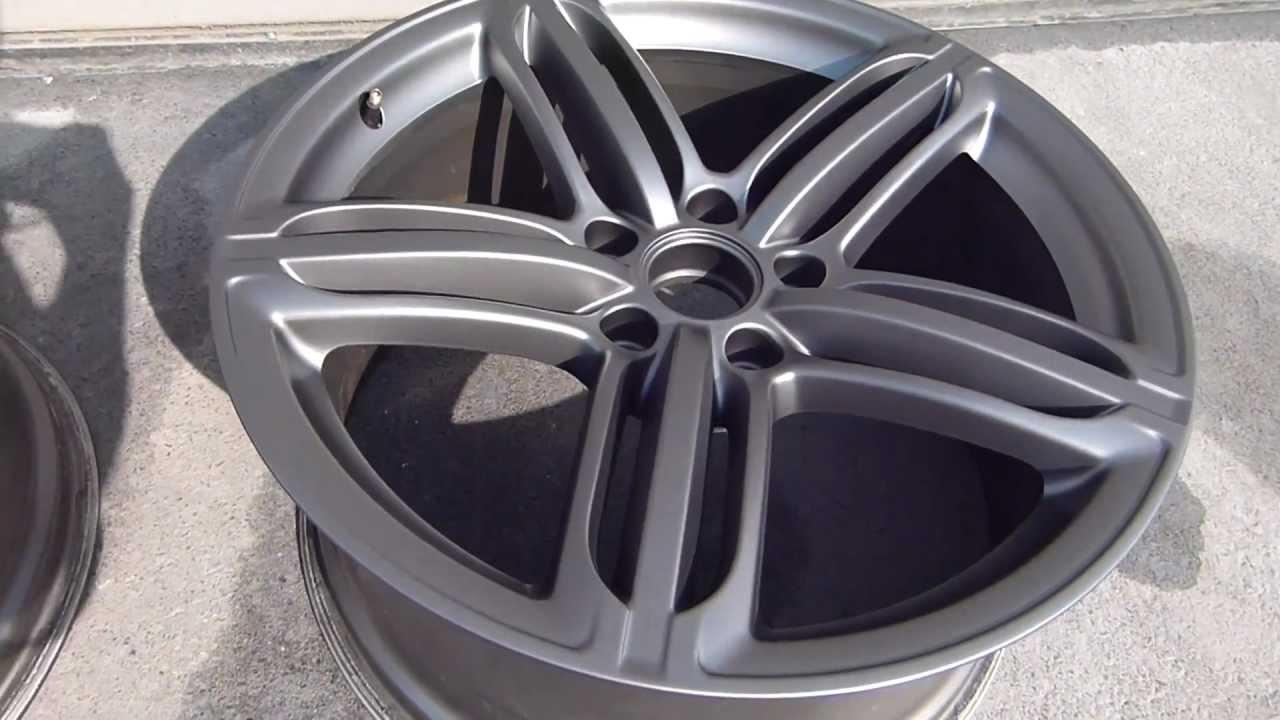 Audi Q7 21 Zoll Titanoptik Alufelgenlackierung Youtube
