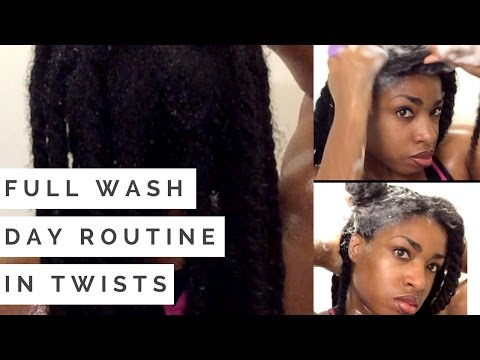 Type 4 Hair Full Wash Day Routine in Twists (Demo)
