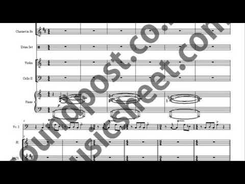 Libertango solo cello,flute,clarinet,drum set,violin,cello,piano music sheet