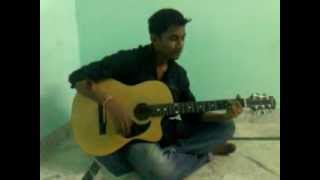 Sari Umar Hum Mar Mar K Ji Liye.mp4(3 Idiots) song played by guitar(Santosh kumar)