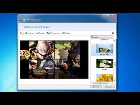 Windows 7 - DVD Menü erstellen und DVD brennen mit DVD Maker