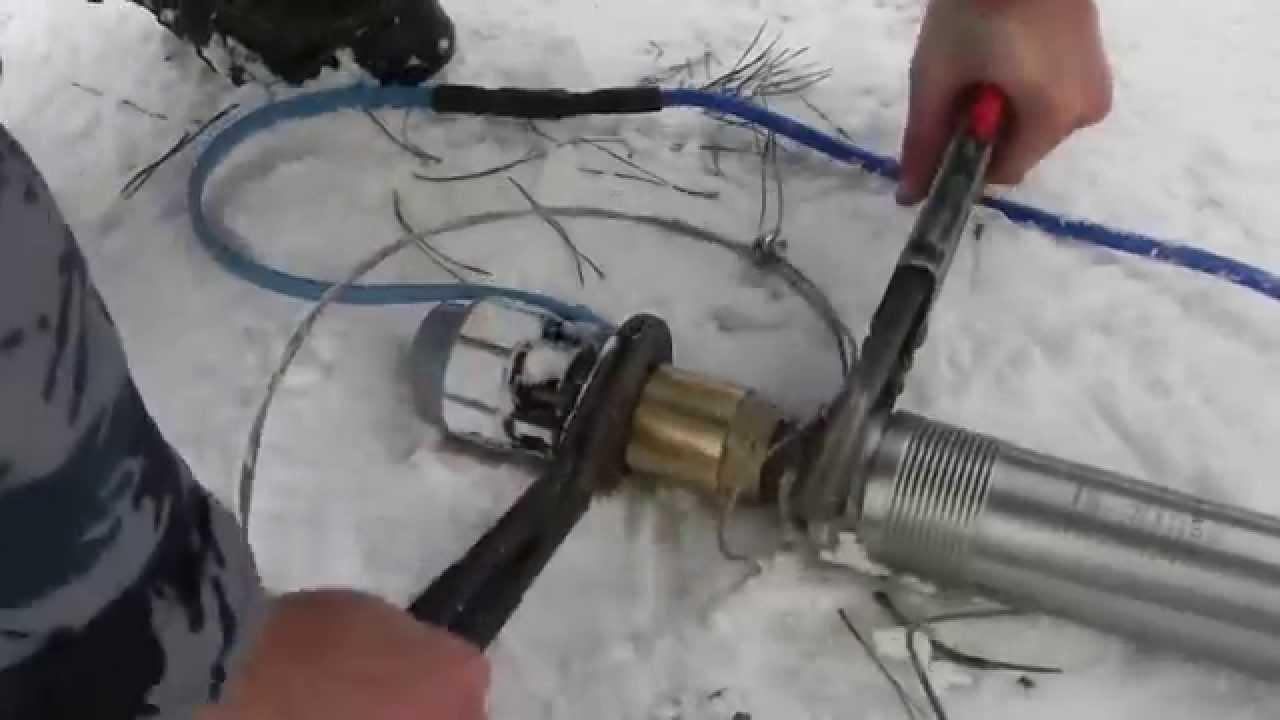 схема водопровода с погружным насосом