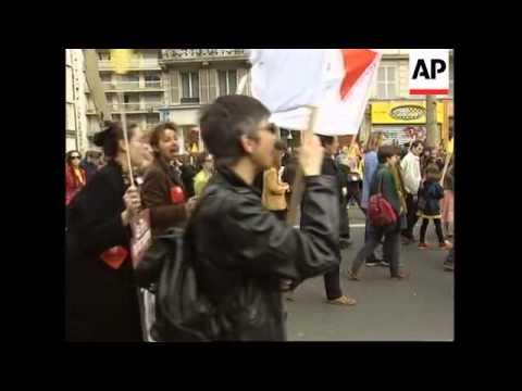 France - Left wing demonstrations against fascism
