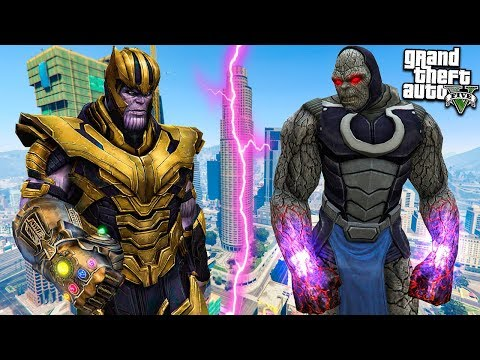 ТАНОС ПРОТИВ ДАРКСАЙДА В ГТА 5 МОДЫ! THANOS VS DARKSEID ОБЗОР МОДА В GTA 5! ИГРЫ ГТА ВИДЕО MODS