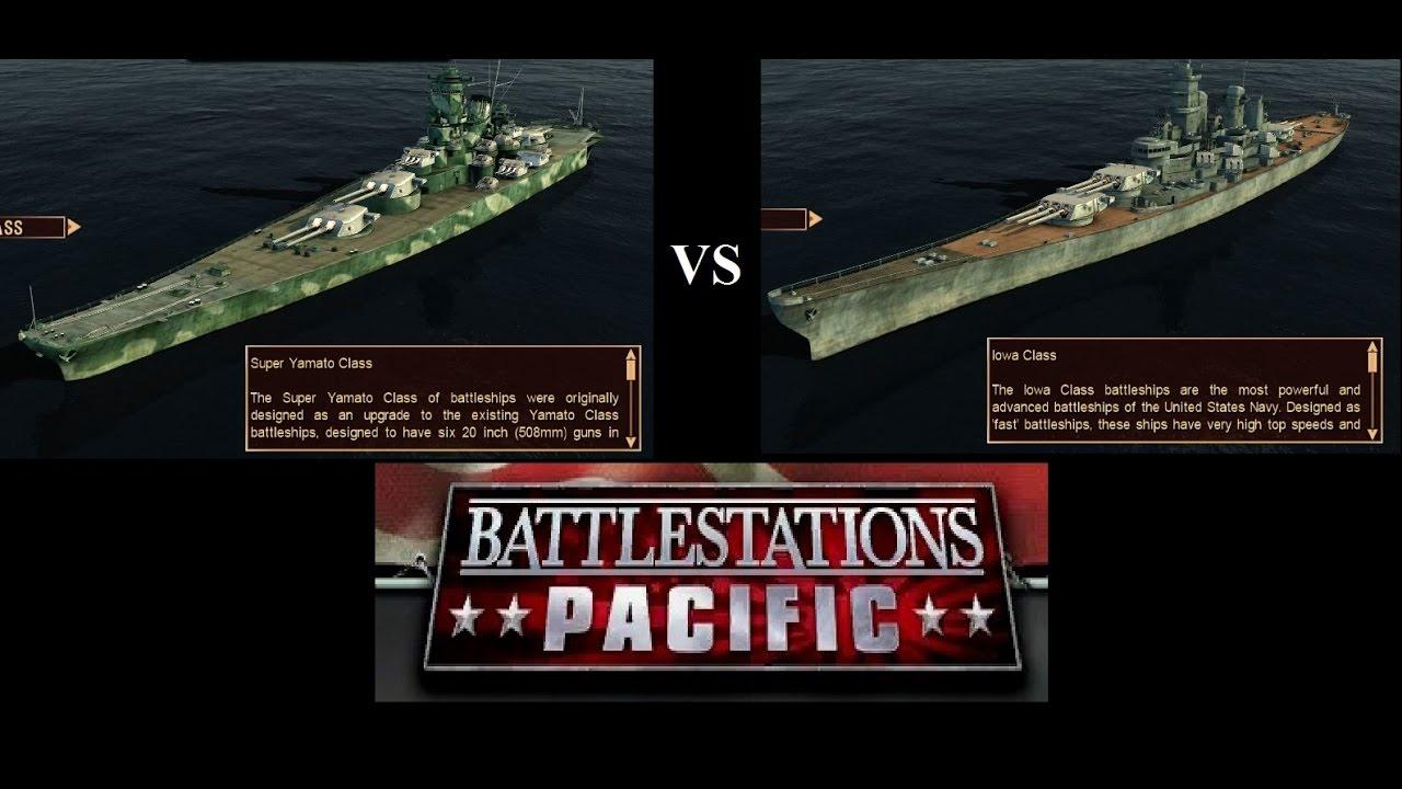 Super Yamato VS Iowa! Battlestations Pacific