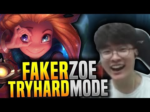 Faker Tryhard Mode ON with Zoe! - SKT T1 Faker KR SoloQ Playing Zoe Mid! | SKT T1 Replays