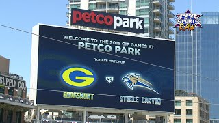 Petco Park hosts Grossmont vs Steele Canyon baseball game