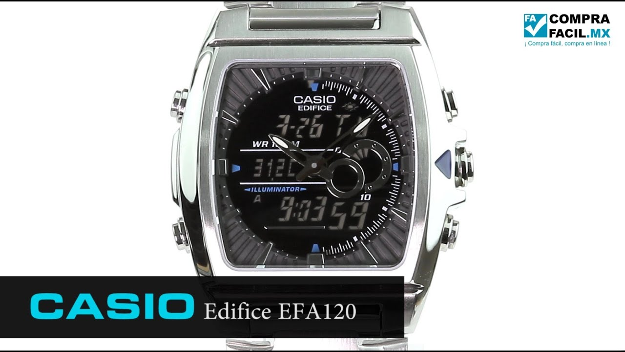 8a9b070433fd Reloj Casio Edifice EFA120 Metal - www.CompraFacil.mx - YouTube