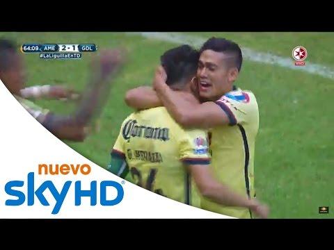 Gol de Oribe Peralta | América 2-1 Guadalajara | Presentado por Sky