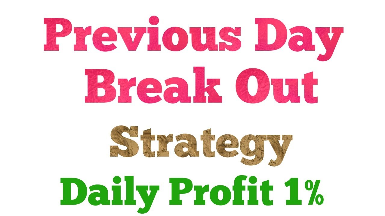 Previous Day Range Breakout Strategy: Daily 1% Profit