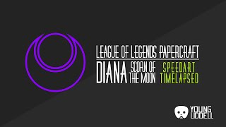 League of Legends - Diana Papercraft - Timelapsed Speedcraft