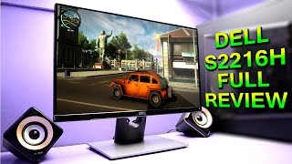 Dell S2216H Full Review with Gaming & Speaker Demo