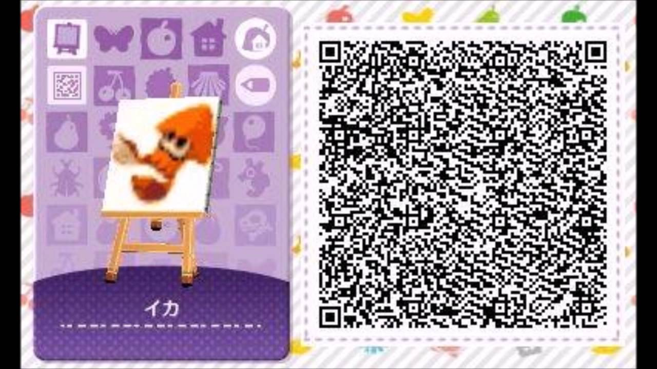 Animal Crossing Happy Home Designer QR Code Motif