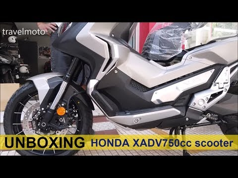 Unboxing HONDA XADV 750 Scooter 2019