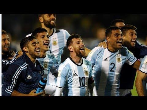 Argentina y su festejo en el vestuario Post partido vs ecuador - (10-10-2017)